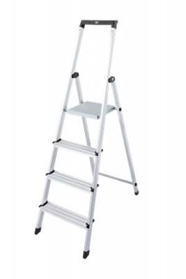 """Állólétra, 4 lépcsőfokos, alumínium, KRAUSE """"Solidy"""""""